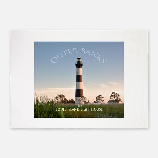 Bodie Island Lighthouse. 5'x7'area Rug