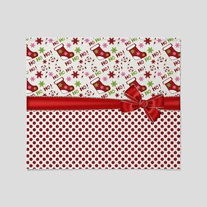 Christmas Stocking HO HO HO Throw Blanket
