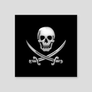 Glassy Skull and Cross Swords Sticker