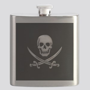 Glassy Skull and Cross Swords Flask