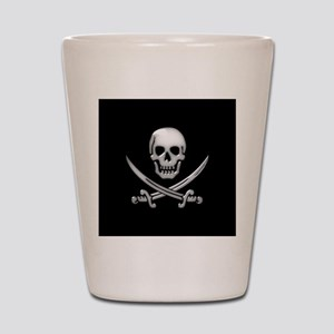 Glassy Skull and Cross Swords Shot Glass