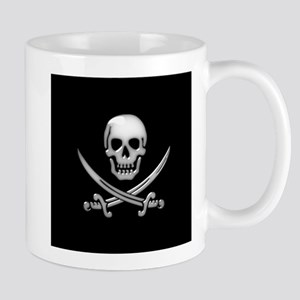Glassy Skull and Cross Swords Mugs