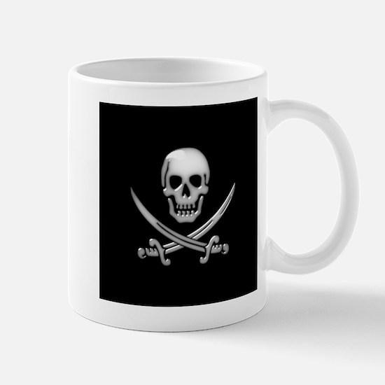 Glassy Skull and Cross Swords Mugs