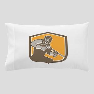 Pressure Washer Cleaner Worker Shield Retro Pillow