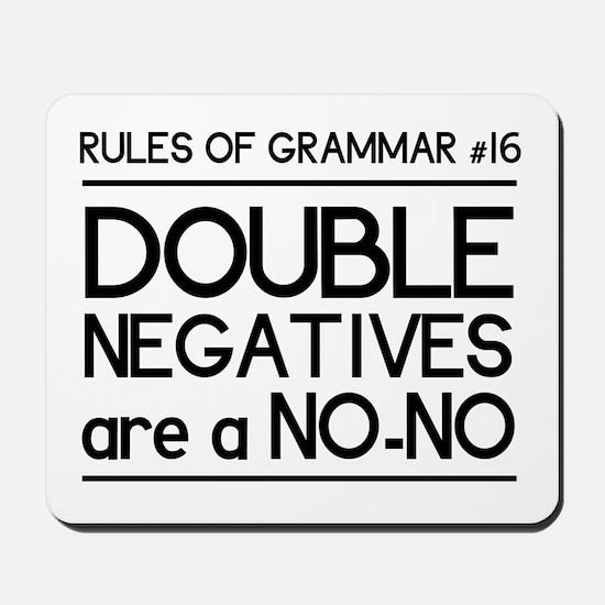 Rules of grammar dub neg Mousepad