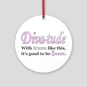 Diva-Tude Ornament (Round)