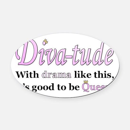 Diva-Tude Oval Car Magnet