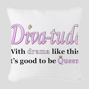 Diva-Tude Woven Throw Pillow