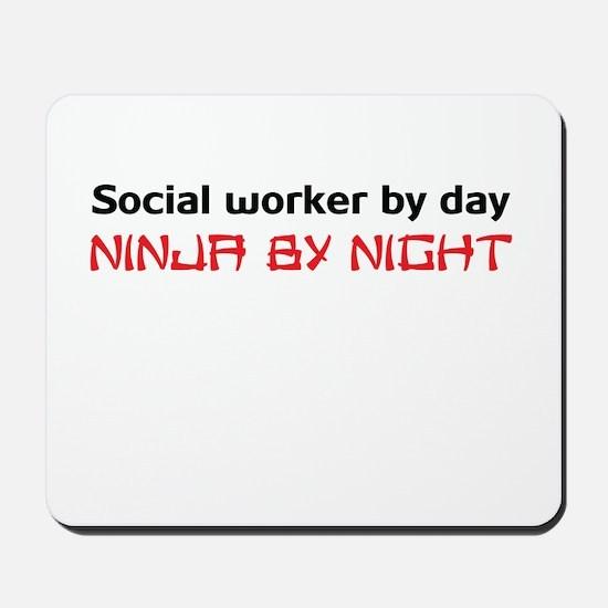 Social worker ninja Mousepad