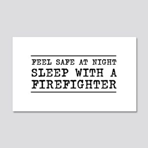 Sleep with a firefighter Wall Decal