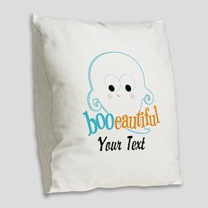 Custom Booeautiful Burlap Throw Pillow