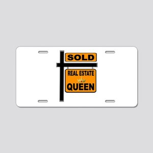 REAL ESTATE QUEEN Aluminum License Plate