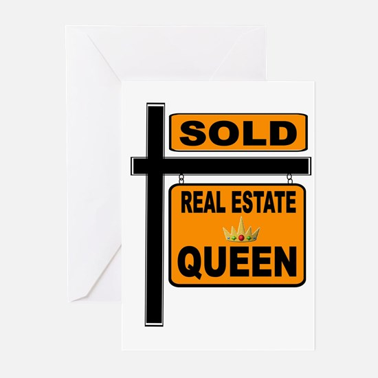 REAL ESTATE QUEEN Greeting Cards
