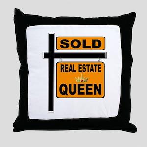 REAL ESTATE QUEEN Throw Pillow