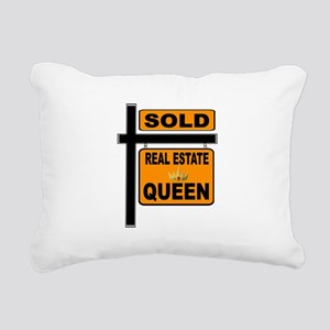 REAL ESTATE QUEEN Rectangular Canvas Pillow