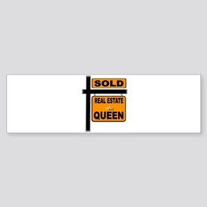 REAL ESTATE QUEEN Bumper Sticker