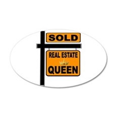 REAL ESTATE QUEEN Wall Decal
