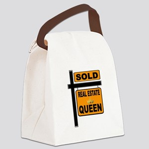 REAL ESTATE QUEEN Canvas Lunch Bag