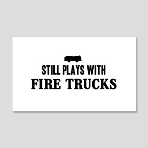 Still plays with fire trucks Wall Decal