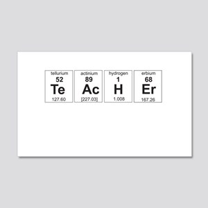 Teacher periodic elements Wall Decal