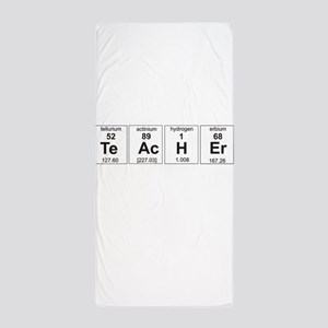 Teacher periodic elements Beach Towel