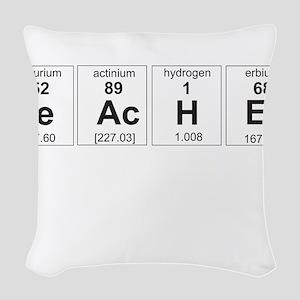 Teacher periodic elements Woven Throw Pillow