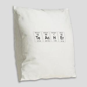 Teacher periodic elements Burlap Throw Pillow