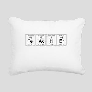 Teacher periodic elements Rectangular Canvas Pillo