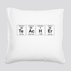 Teacher periodic elements Square Canvas Pillow