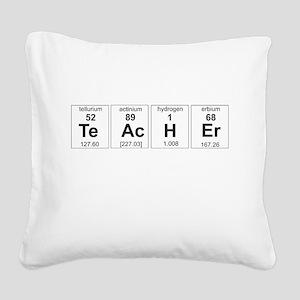 Teacher periodic elements Square Canvas Pillow