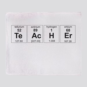 Teacher periodic elements Throw Blanket