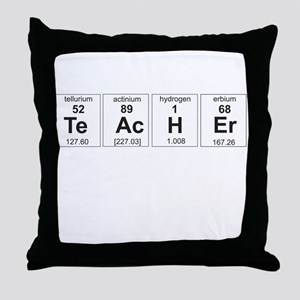 Teacher periodic elements Throw Pillow