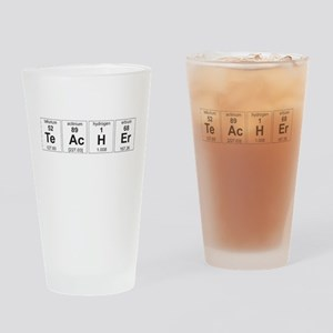 Teacher periodic elements Drinking Glass