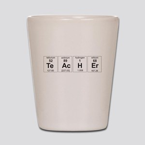 Teacher periodic elements Shot Glass