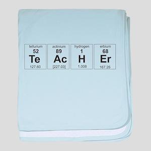 Teacher periodic elements baby blanket