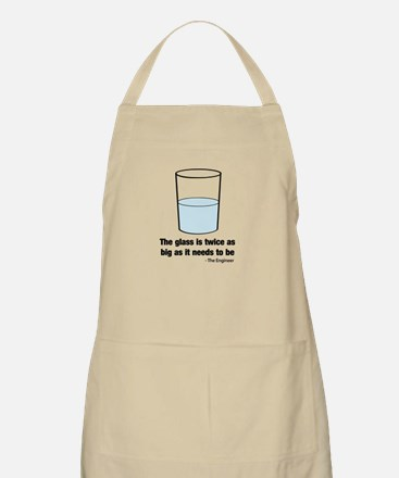 The glass is twice as big Apron