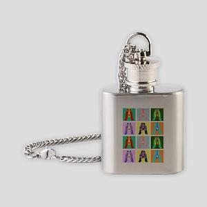 Basset Hound Pop Art Flask Necklace