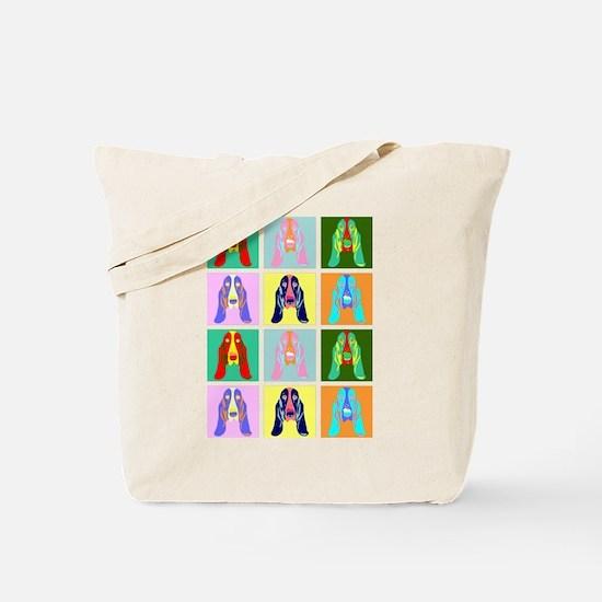 Basset Hound Pop Art Tote Bag