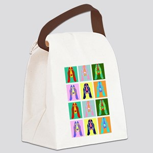 Basset Hound Pop Art Canvas Lunch Bag