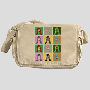 Basset Hound Pop Art Messenger Bag