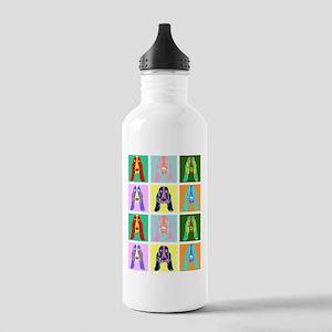 Basset Hound Pop Art Stainless Water Bottle 1.0L