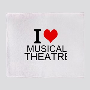 I Love Musical Theatre Throw Blanket