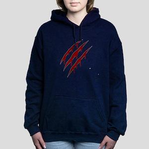 wolverine attack Women's Hooded Sweatshirt