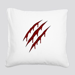 wolverine attack Square Canvas Pillow