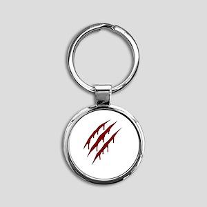 wolverine attack Round Keychain