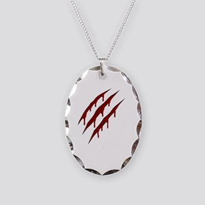 wolverine attack Necklace Oval Charm