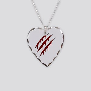 wolverine attack Necklace Heart Charm