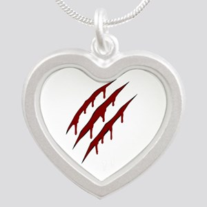 wolverine attack Silver Heart Necklace