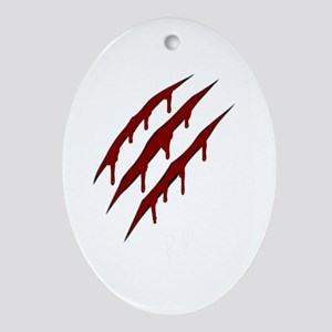 wolverine attack Ornament (Oval)