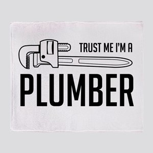 Trust me i'm a plumber Throw Blanket